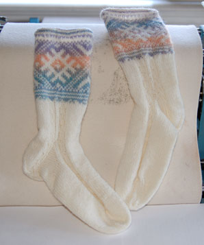 Estonian Socks for Aunt Stacy