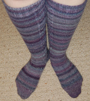 Purple Trekking Knee Socks