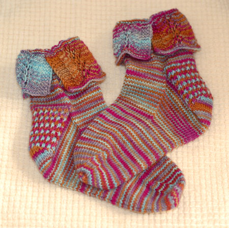 Finished Summer of Love Lace Socks