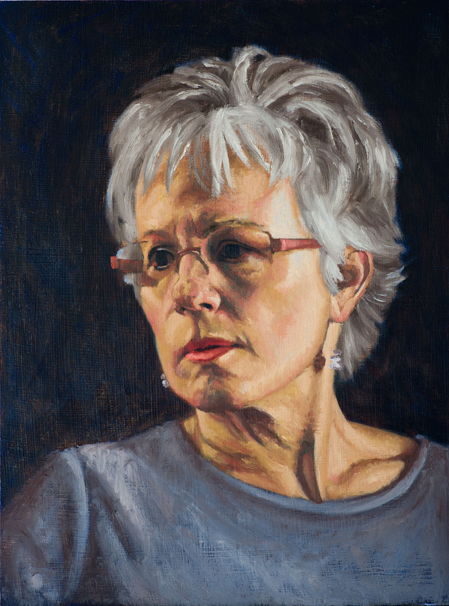 Portrait of Linda (in progress)