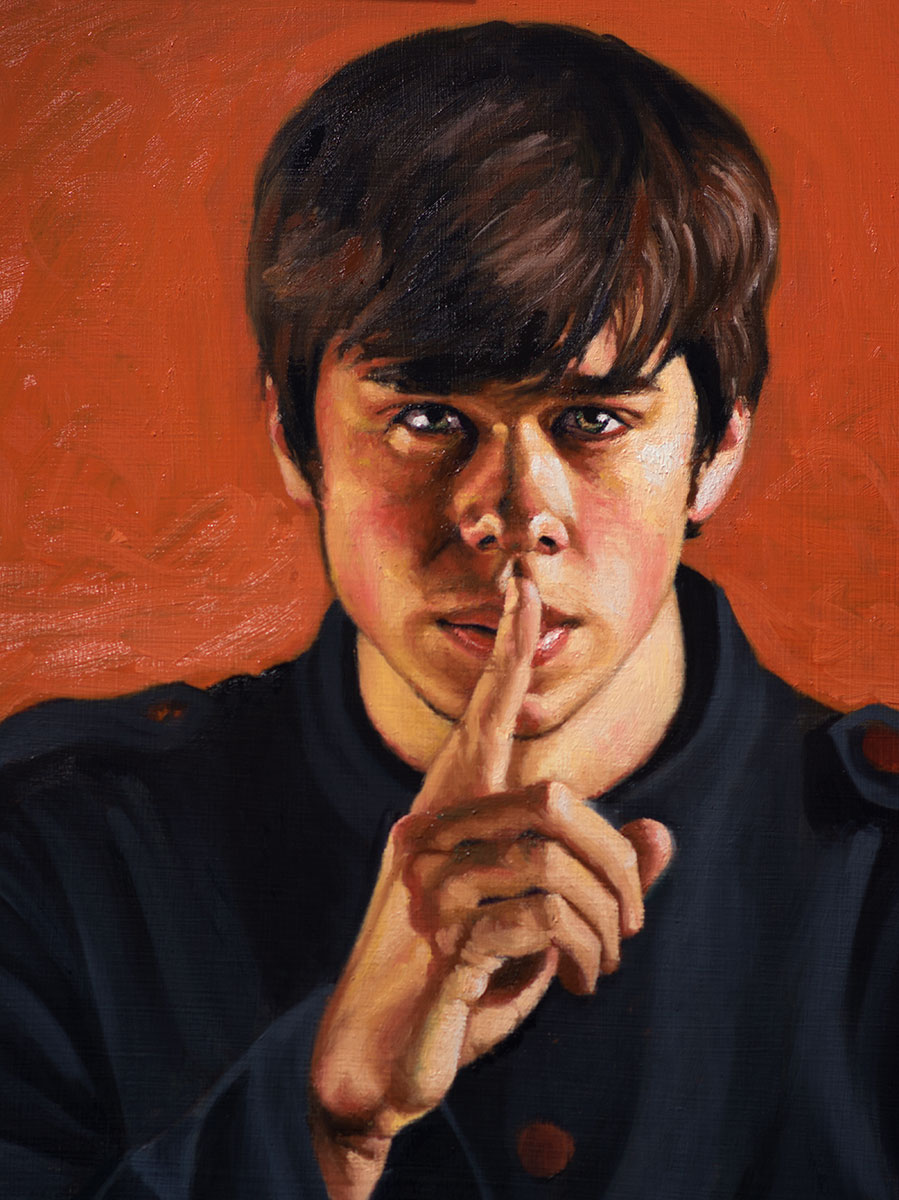 Shh - Josh (detail, in progress)