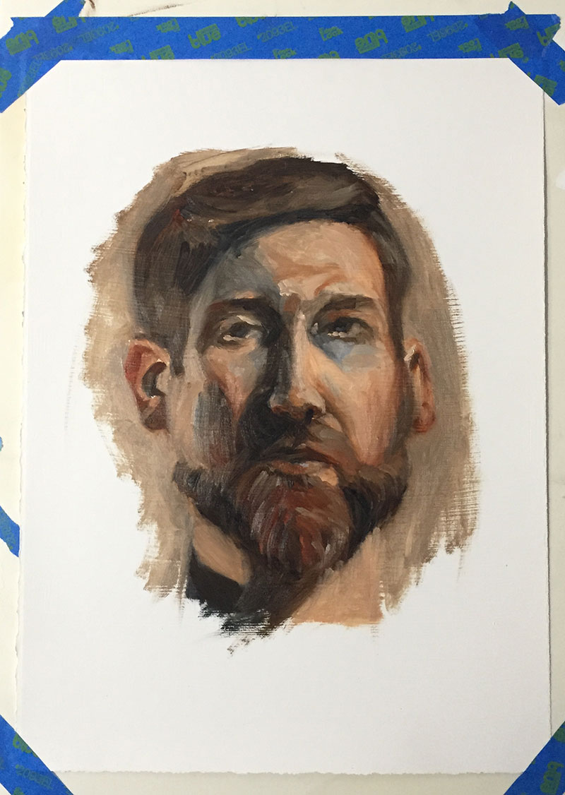 Oil Sketch (self portrait)