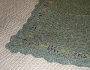 Details of Ben's baby's blanket