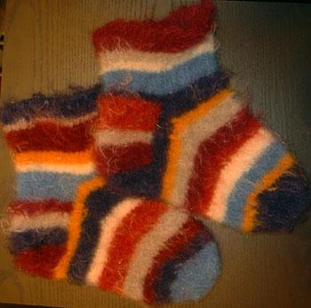 Felted Fuzzy Feet