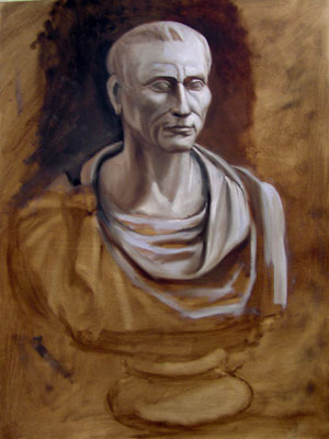 Cast Painting of Caesar