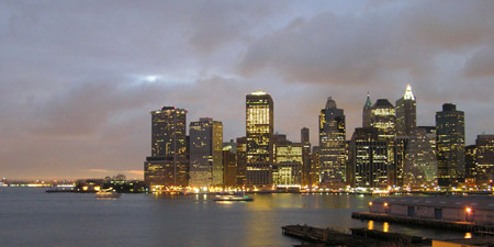 Southern Manhattan at dusk
