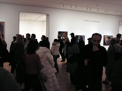 Crowded MoMA Rooms