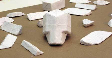 Plasteline Skull with Truncations
