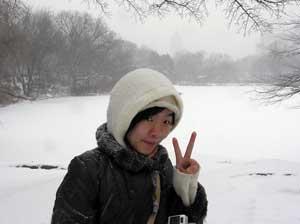 Jee in Central Park 1/22/05