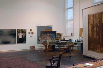 Vincent Desiderio's Studio