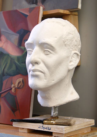 Portrait Sculputer in Plaster