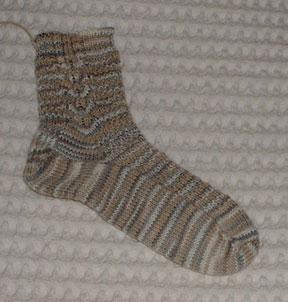 Backwards Child's French Sock