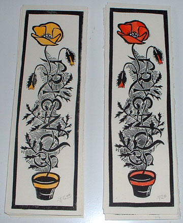 Poppy bookmarks