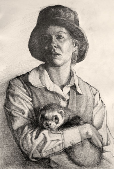 Portrait of Julie and Ajax