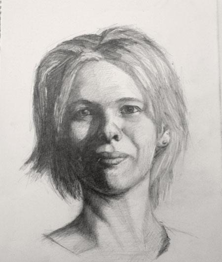 Portrait Sketch of Crystal