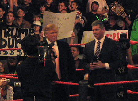 The Donald vs. Vince McMahon