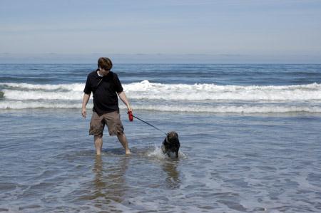 Freyja at the Beach