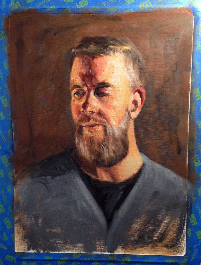 Chromatic study for portrait.