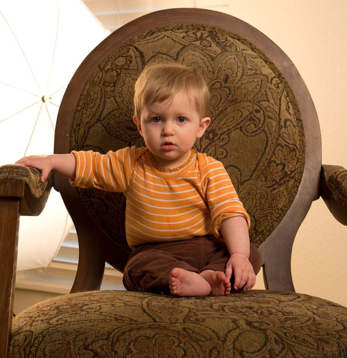 Theo in a Chair.
