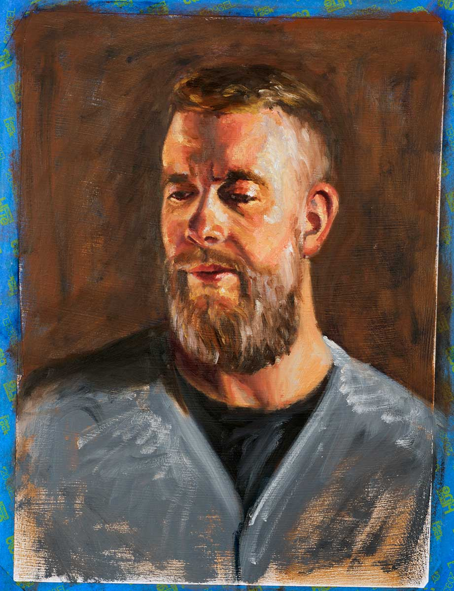 Oil on paper - color study