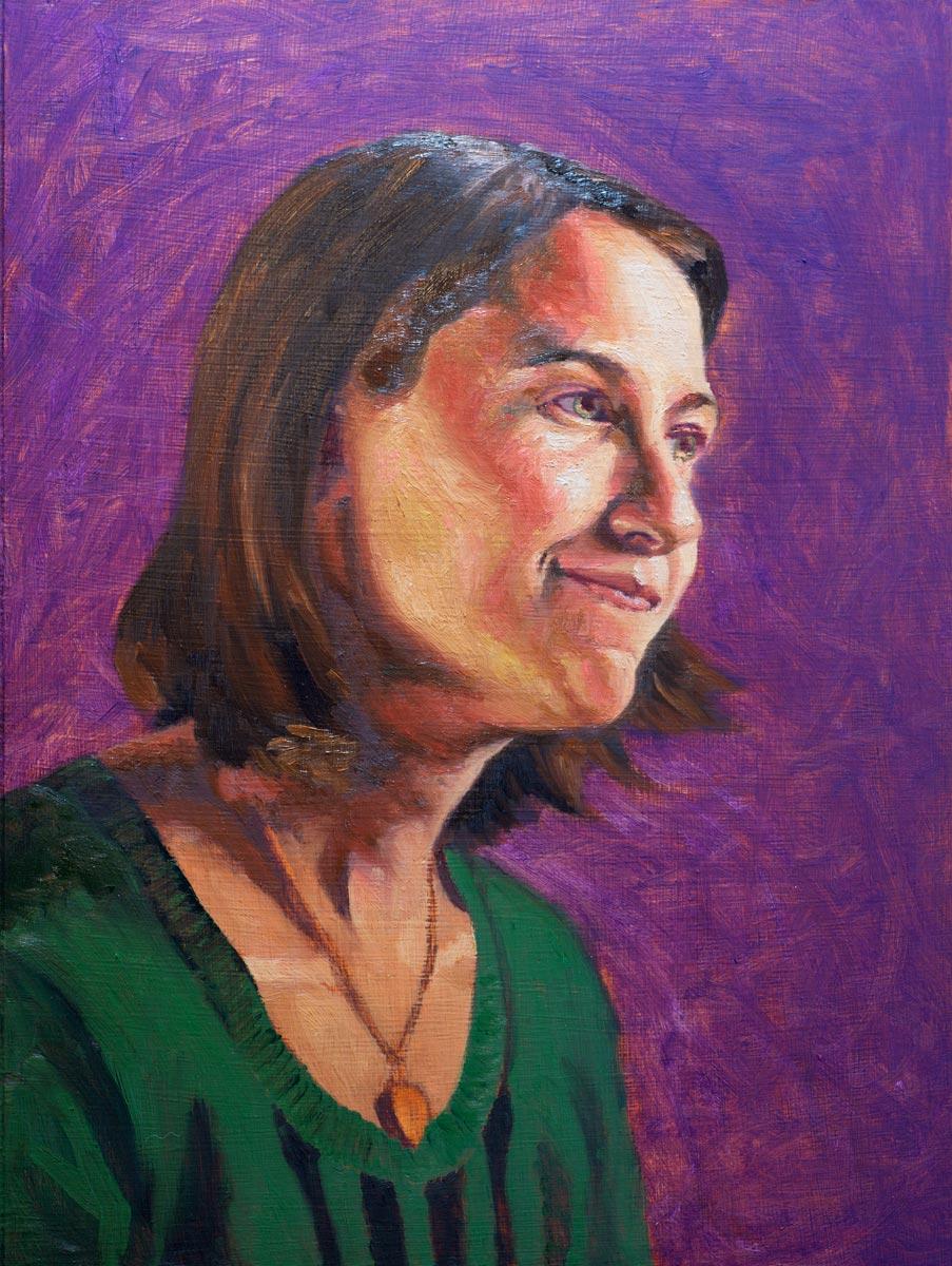 Portrait of Tabby (in progress - hue selection)