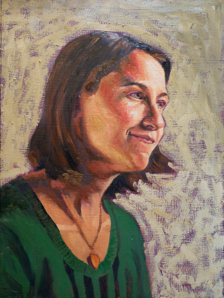 Portrait of Tabby (in progress - first scumble)