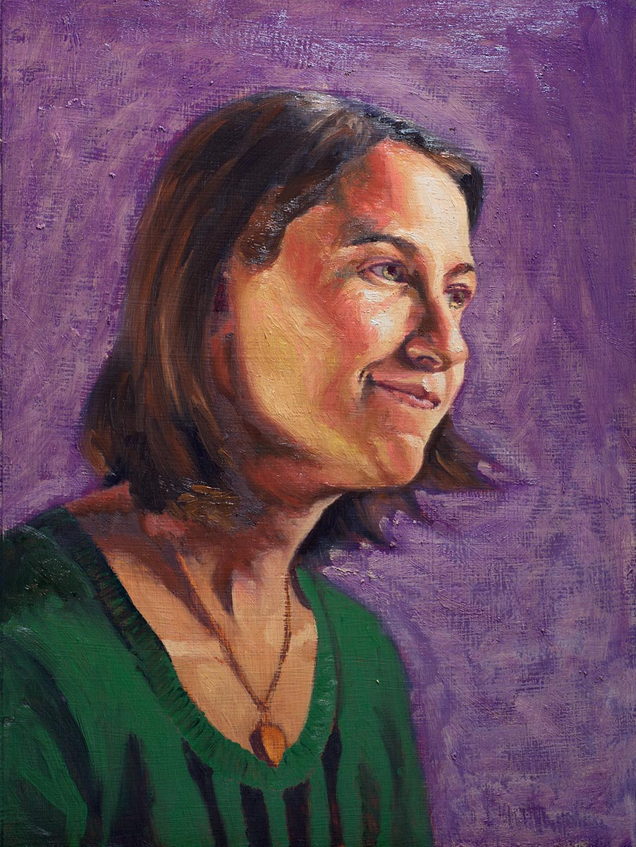 Portrait of Tabby (in progress - second glaze)