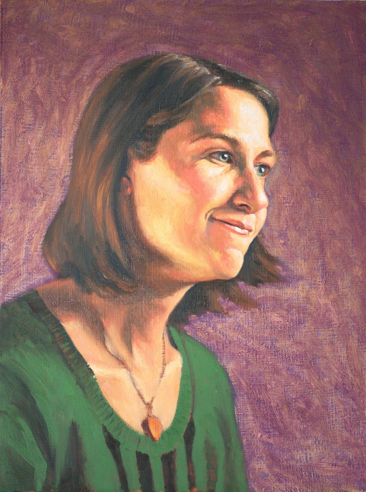 Portrait of Tabby - in porgress