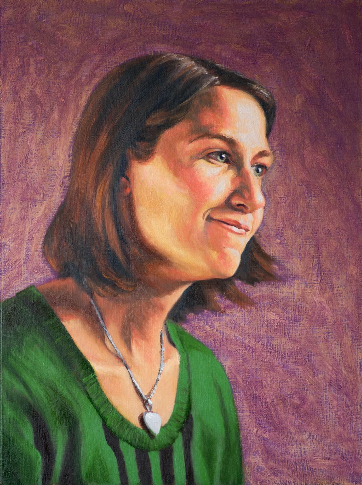 "Portrait of Tabby - 12""x16"" Oil on Panel."