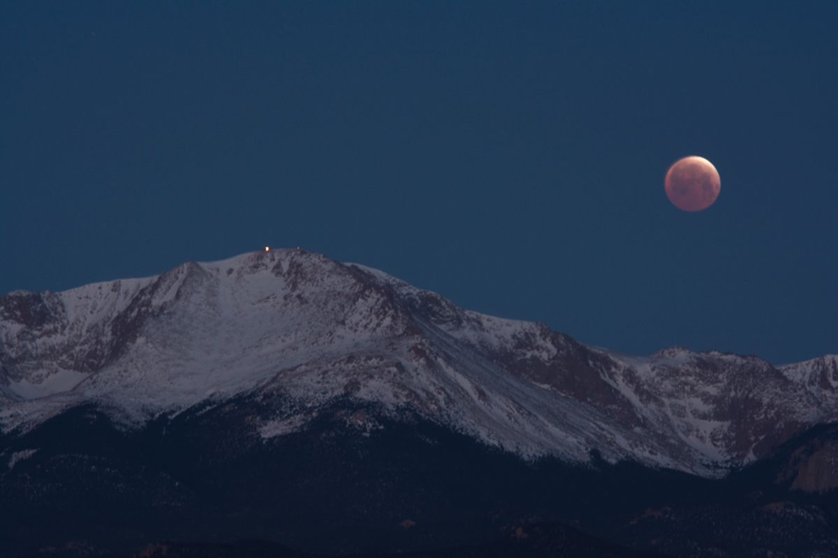 Eclipse over Pikes Peak