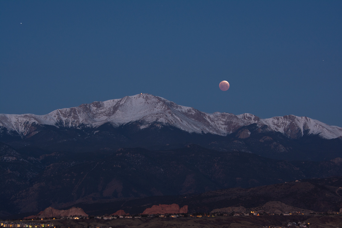 2015 Eclipse, Pikes Peak and Garden of the Gods