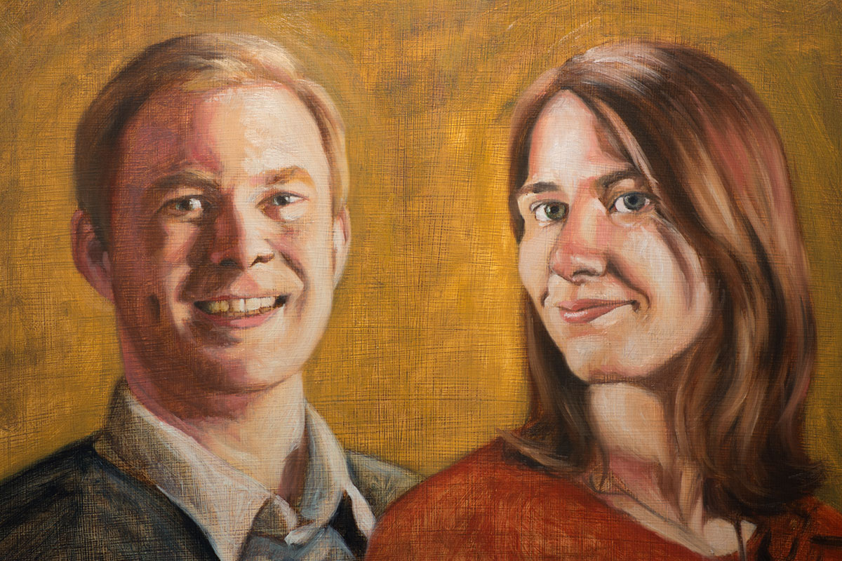 Leif and Tabby (cropped, in progress)