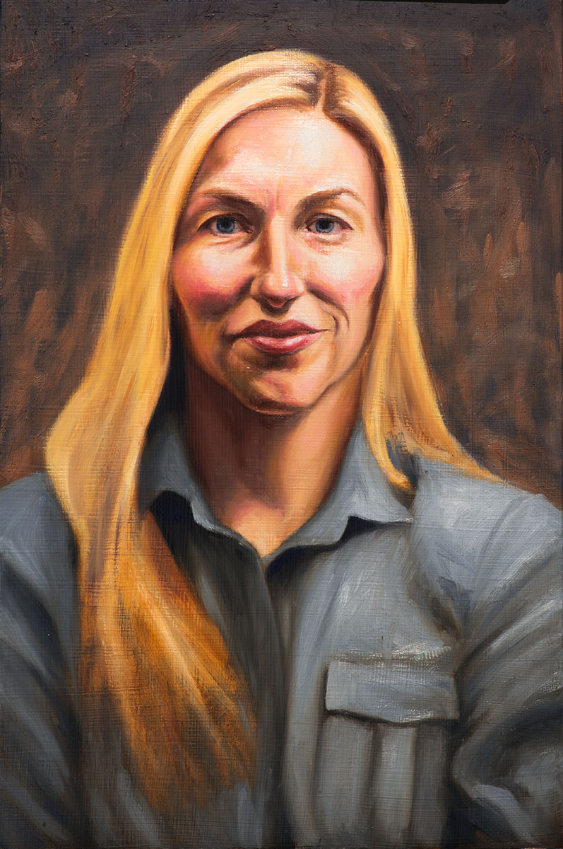 Portrait of Megan (in progress)