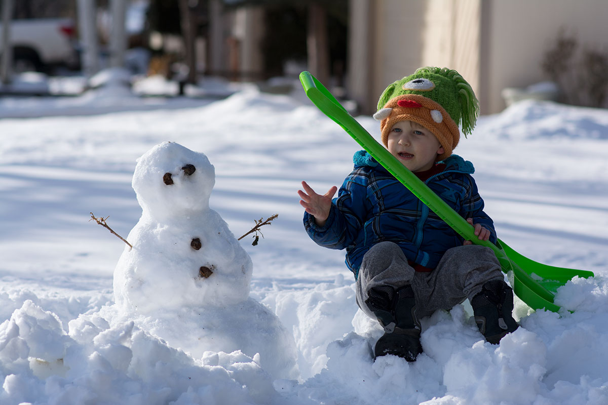 Theo's First Snowman